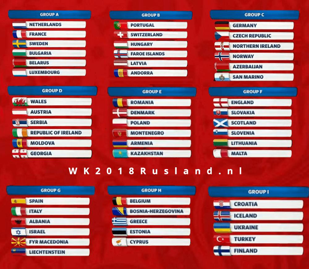 groepsindeling kwalificatie wk 2018