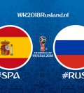 opstellingen spanje-rusland WK 2018